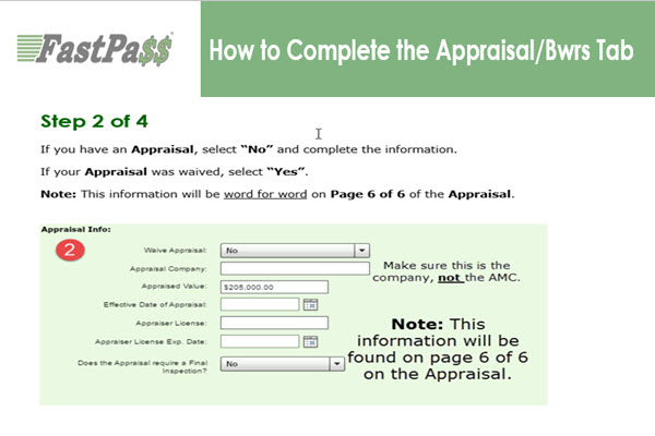 FastPass - How to Complete the Appraisal/Bwrs Tab course image